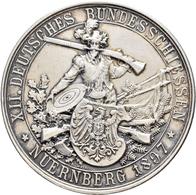 Medaillen Deutschland: 12. Deutsches Bundes-Schießen 1897 In Nürnberg: Silbermedaille 1897 Von Balmb - Allemagne