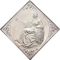 Medaillen Deutschland: 13. Deutsches Bundes-Schießen 1900 In Dresden: Lot 2 Medaillen; Silberklippe - Allemagne