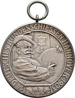 Medaillen Deutschland: 14. Deutsches Bundes-Schießen 1903 In Hannover: Lot 2 Medaillen; Goldmedaille - Allemagne