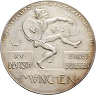 Medaillen Deutschland: 15. Deutsches Bundes-Schießen 1906 In München: Lot 4 Medaillen; Silbermedaill - Allemagne