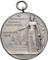 Medaillen Deutschland: 16. Deutsches Bundes-Schießen 1909 In Hamburg: Lot 3 Medaillen; Goldmedaille - Allemagne