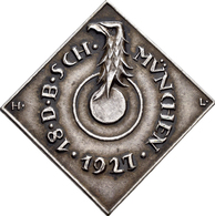 Medaillen Deutschland: 18. Deutsches Bundes-Schießen 1927 In München.: Lot 3 Medaillen; 2 X Silberme - Allemagne