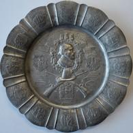 Medaillen Deutschland: 19. Deutsches Bundes-Schießen 1930 In Köln: Großer Zinnteller 1930 Des Deutsc - Allemagne