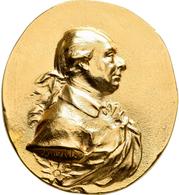 Medaillen Deutschland: Baden-Durlach, Karl Friedrich 1746-1811: Einseitige Vergoldete Bronzegussmeda - Allemagne