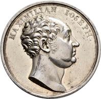 Medaillen Deutschland: Bayern-Königreich, Maximilian I. Joseph 1806-1825:, Silbermedaille 1819, Stem - Allemagne