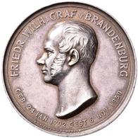 Medaillen Deutschland: Brandenburg-Preussen, Friedrich Wilhelm 1795-1850, Graf Von Brandenburg: Silb - Allemagne