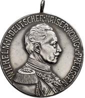Medaillen Deutschland: Brandenburg-Preussen, Wilhelm II. 1888-1918: Silbermedaille 1913, Unsigniert, - Allemagne