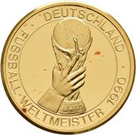 Medaillen Deutschland: Deutschland - Fußball-Weltmeister 1990. Goldmedaille 9,75 G Aus 999,9/1000 Go - Allemagne