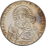 Medaillen Deutschland: Drittes Reich 1933-1945: Silbermedaille 1939 Von Karl Goetz, Auf Die Einnahme - Allemagne