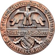 Medaillen Deutschland: Drittes Reich: Bronzierte Zinkgussmedaille 1936, Der 3. Reichsnährstands-Auss - Allemagne