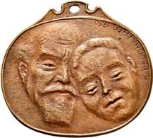 Medaillen Deutschland: Ehemedaille: Ovale Bronzegussmedaille 1950 Von Konrad Geldmacher (1873-1965): - Allemagne