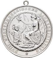 Medaillen Deutschland: Esslingen A.N.: Silbermedaille 1902, Von Otto Beh, Esslingen, Auf Das 18. Wür - Allemagne