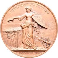 Medaillen Deutschland: Hannover: Lot 3 Stück; Bronzene Prämienmedaille O.J. (Gravur 1903,1914 (2x)) - Germany