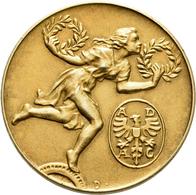 Medaillen Deutschland: Jugendstil Goldmedaille O.J., (1908), Stempel Von Dasio, Prämie Des ADAC, Mit - Allemagne