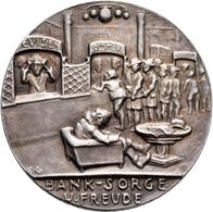 Medaillen Deutschland: Karl Goetz: Silbermedaille 1924, Banksorge Und Freude, Av: Wartende Menschen - Allemagne
