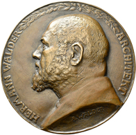 Medaillen Deutschland: Karlsruhe: Bronzegußmedaille 1917 Von A. Walder, Auf Den 70. Geburtstag Des K - Allemagne