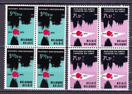 1970 Nr 1539-40** Zonder Scharnier,blokjes Van 4.Patriottische Uitgifte. - Belgique