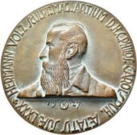 Medaillen Deutschland: Karlsruhe: Bronzegussmedaille 1927 Von R. Kowarzik, Auf Den 80. Geburtstag De - Allemagne