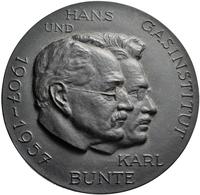Medaillen Deutschland: Karlsruhe: Einseitige Eisengussmedaille 1957, Auf Karl Bunte (1879-1944), Deu - Allemagne