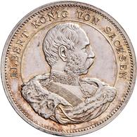 Medaillen Deutschland: Sachsen, Albert 1873-1902: Silbermedaille 1889, Stempel Von Barduleck, Auf Di - Allemagne