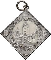 Medaillen Deutschland: Ulm:Silber-Medaillenklippe 1910 Von Miller. Auf Das 500jährige Jubiläumsschie - Allemagne