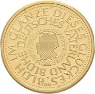 Medaillen Deutschland: Wiedervereinigung 3. Oktober 1990: Goldmedaille 9,84 G, 999,9/1000 Gestempelt - Allemagne