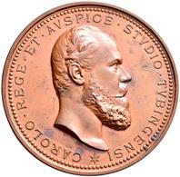 Medaillen Deutschland: Württemberg, Karl 1864-1891: Bronzemedaille 1877 Von Karl Schwenzer, Auf Die - Allemagne