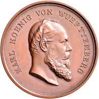 Medaillen Deutschland: Württemberg, Karl 1864-1891: Lot 2 Stück; Bronzemedaille O.J. (verliehen 1866 - Germany