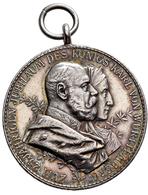 Medaillen Deutschland: Württemberg, Karl 1864-1891: Tragbare Silbermedaille 1889 Von G. Schiller Jun - Allemagne