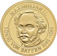 Medaillen Deutschland - Personen: Medaillenset Bayerische Könige: 6 X 1/10 OZ, 585/1000 Gold Im Gesa - Allemagne