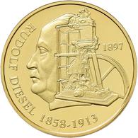 Medaillen Deutschland - Personen: Medaillenset 10 DM Entwürfe 1997: 3 X 3,5 G, 585/1000 Gold Im Gesa - Allemagne