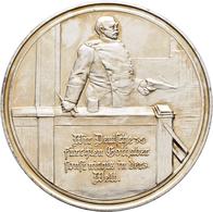 Medaillen Deutschland - Personen: Otto Von Bismarck: Bronzemedaille 1888, Versilbert, Von Lauer. Auf - Allemagne