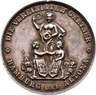 Medaillen Deutschland - Geographisch: Hamburg Und Altona: Silbermedaille O. J. (Gravur 1869) Von J. - Allemagne
