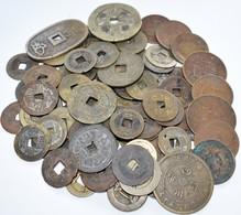 China: Lot Fast 100 Diverse Cash Münzen, Alle Ungeprüft. Vielleicht Versteckt Sich Darunter Eine Sel - Chine
