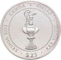 West Samoa: 25 Tala 1987, America's Cup - Perth Australia, Silber 999/1000, 155,5 G, KM#67, Polierte - Samoa
