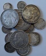 Belgien: Leopold II., 1865-1909: Lot 17 Münzen; 5 Francs 1869, 1872, 1873(2x), 2 Francs 1880, 20 Fra - Belgium
