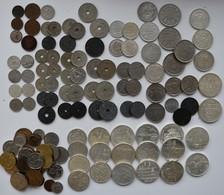 Belgien: Große Sammlung Belgischer Münzen Ab 1900. Jede Münze Anders, Nach Typen Gesammelt, Dabei Au - Belgium