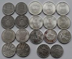 Belgien: Kleines Lot 19 Belgischer Gedenkmünzen, überwiegend 500 Francs Mit Verschiedenen Varianten - Belgium
