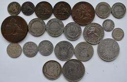 Belgien: Lot 22 Belgische Münzen Aus Dem 19. Jahrhundert. 1 Cent Bis 2 Francs, Dabei Auch Silbermünz - Belgium