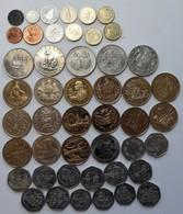 Gibraltar: Lot 47 Diverse Münzen Aus Gibraltar, Dabei Kleinmünzen, One Crown Gedenkmünzen, 5 Pounds - Grèce