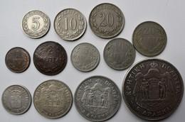 Griechenland: Kreta 1900 - 1901: Lot 9 Münzen, Von 1 Lepton Bis 5 Drachmen, Dazu Noch 5, 10,20 Lepta - Grèce