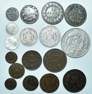 Griechenland: Lot 17 Münzen Aus Griechenland Des 19. Jhd. (1846-1882), Von 1 Lepta Bis 5 Drachmai. - Grèce