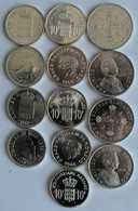 Monaco: Lot 13 Münzen Aus Monaco, Dabei 4 X 10 Franc 1966 100 Jahre Monte Carlo (KM# 146), 5 X 10. H - Monaco