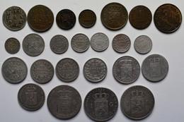 Niederlande: Lot 24 Münzen Aus Holland Des 19. Jahrhunderts. 1/2 Cent Bis 1 Gulden, Dabei Auch Silbe - [ 2] 1795-1814 : Napoleonic And French Protectorate/Domination