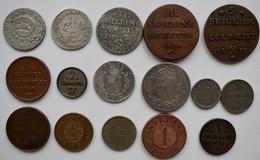 Norwegen: Lot 16 Münzen Lautend Auf Skilling 1704-1872, Dabei Auch Silbermünzen. - Norvège