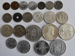 Ungarn: 22 Diverse Münzen Des Königreichs 1926-1945 Lautend Auf Filler Und Pengö. - Hongrie