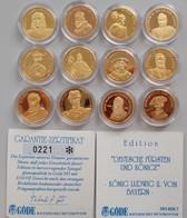 Medaillen Deutschland - Personen: Gold-Edition Deutsche Fürsten Und Könige: Ein Set Von 12 Medaillen - Allemagne
