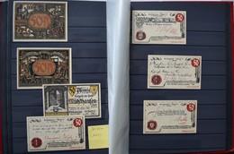 Varia, Sonstiges: BANKNOTEN: Ein Album Mit über 100 Banknoten, Dabei Reichsbanknoten Und Reichskasse - Other Collections