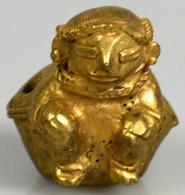 Varia, Sonstiges: Präkolumbianische Goldfigur (Gold/Silber/Kupfer-Legierung), 50 Mm Hoch, 36 G, In V - Other Collections