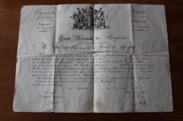 Diplôme  De La Garde Nationale  De Crouptes ORNE  1831  Normandie - Documentos